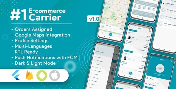 Carrier For E-Commerce Flutter App