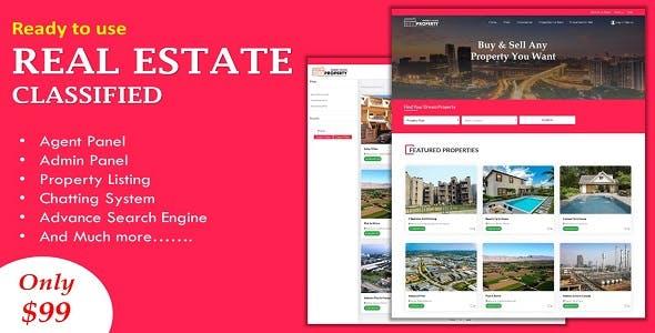 Multi Agent Real Estate / Property Classified Website in ASP.NET