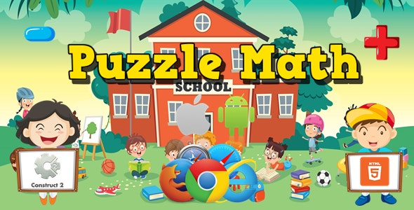 Puzzle Math - Educational Game - HTML5 (.Capx) - CodeCanyon Item for Sale