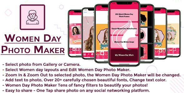 Women Day Photo Maker IOS (Objective C)
