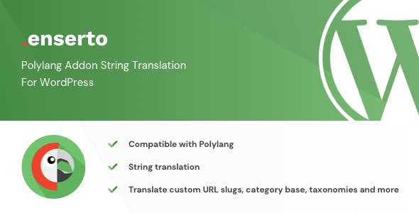 Enserto - Polylang Addon String Translation for WordPress