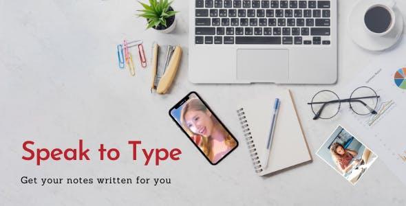 Speak to Type - notes app for iOS
