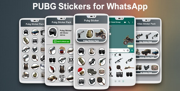 PUBG Stickers for WhatsApp 2020 | PUBG Sticker Pack - Android App + Admob + Facebook Integration