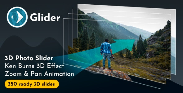 Glider 3D Photo Slider WordPress Plugin v1.10 - CodeCanyon Item for Sale