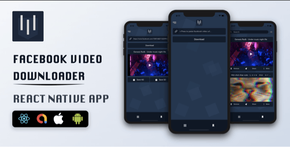 Facebook Video Downloader - React Native App - CodeCanyon Item for Sale