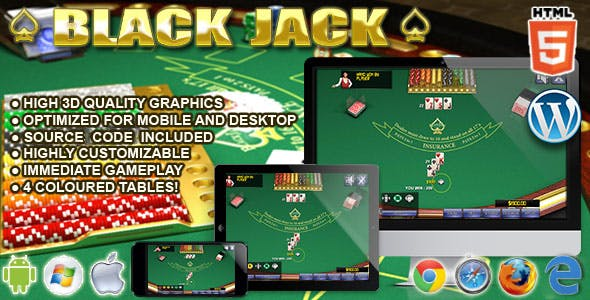 BlackJack 3D - HTML5 Casino Game