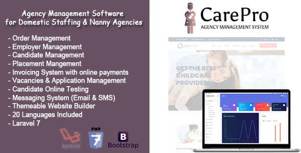 CarePro - Domestic Staffing Agency Management System - CodeCanyon Item for Sale