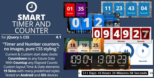 Smart Timer And Counter - jQuery Mega Countdown Plugin