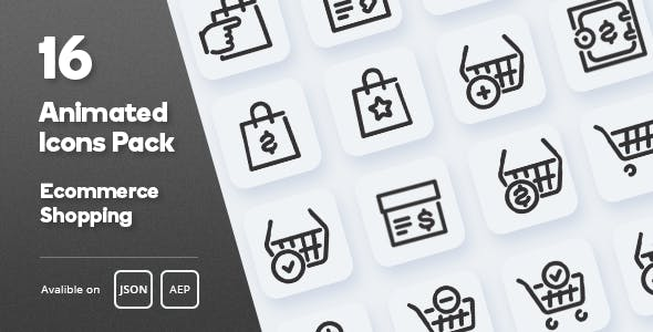 Ecommerce Shopping Animated Icons Pack