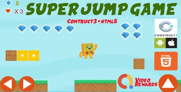 Super Jump Platform Game Construct 3 (capx+html5+Admob)