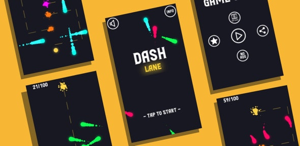 Dashlane: (Android Studio+Admob Reward Video+Facebook Ads+Inapp+Leaderboard+ready to publish)