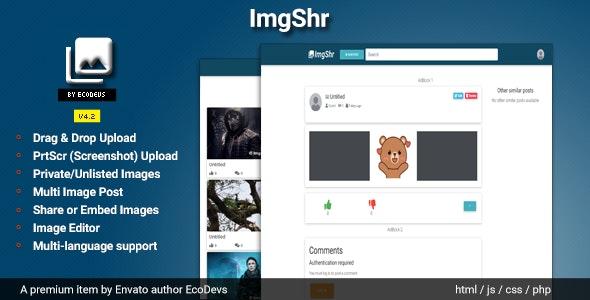 ImgShr - Easy Snapshot, Image Upload & Sharing Script - CodeCanyon Item for Sale