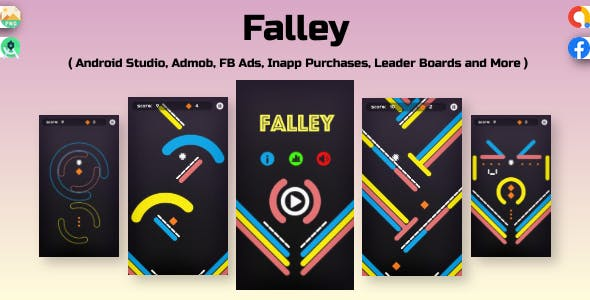 Falley : admob ads + facebook ads + android studio + sprite extractor