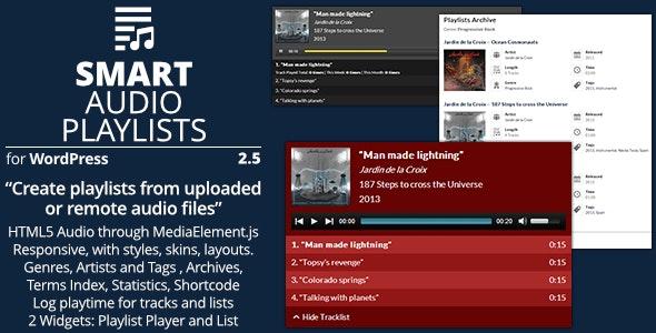 Smart Audio Playlists - Plugin for WordPress playlists management - CodeCanyon Item for Sale
