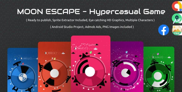 Moon Escape:  admob ads + facebook ads + android studio + sprite extractor  + ready to publish