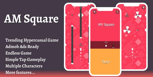 AMSquare: admob ads + facebook ads + android studio + sprite extractor + ready to publish
