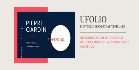 UFOLIO - Portfolio Bootstrap Template