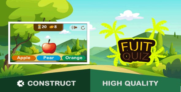 Fruit Quiz - HTML5 Game (capx)