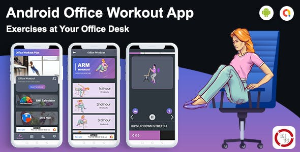 Android Office Fitness & Workout App - Exercises at Your Office