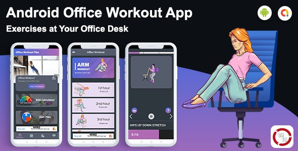 Android Office Workout App - Exercises at Your Office - CodeCanyon Item for Sale