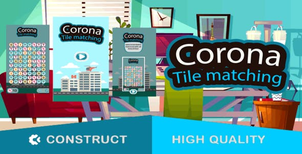 Corona Tile Matching - HTML5 Game (capx)