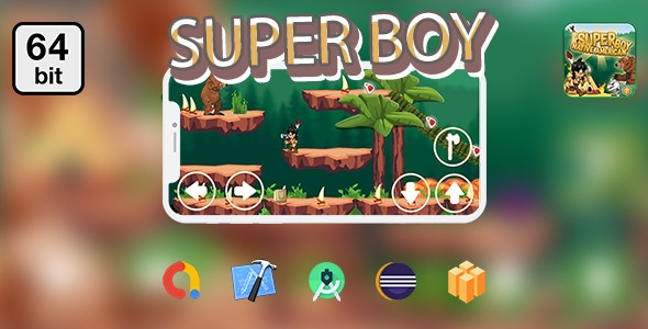Super Boy - Native American 64 bit - Android IOS With Admob - CodeCanyon Item for Sale