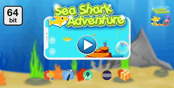 Sea Shark Adventure 64 bit - Android IOS With Admob - CodeCanyon Item for Sale