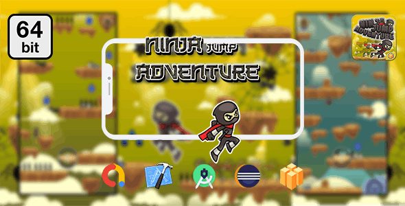 Ninja Jump Adventure 64 bit - Android IOS With Admob - CodeCanyon Item for Sale