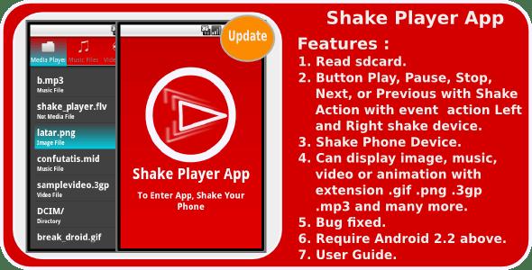 Shake Player - CodeCanyon Item for Sale