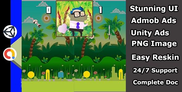 Farting Flappy Bird Like Master jump game(Admob + Unity)