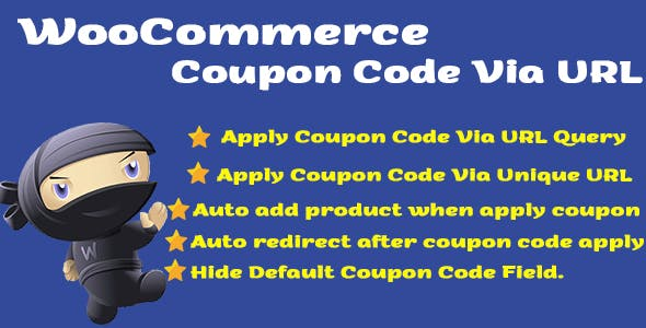 WooCommerce Coupon Code Via URL