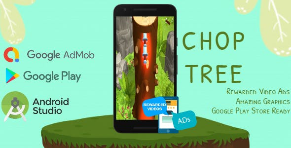Chop Tree - Android Studio - BuildBox - AdMob Ads Reward Video