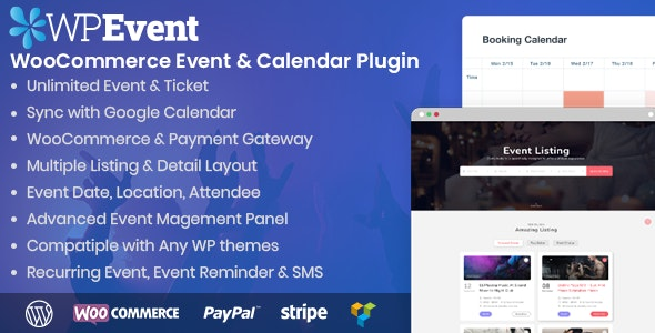 WPEvent – WooCommerce Event Ticket & Calendar