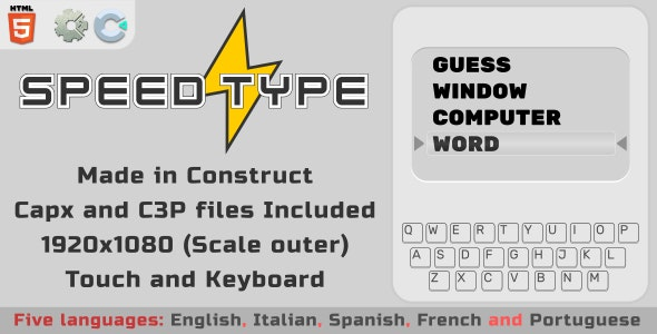 Speed Type - HTML5 Skill Game - CodeCanyon Item for Sale