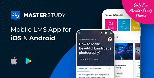 MasterStudy LMS Mobile App - Flutter iOS & Android - CodeCanyon Item for Sale