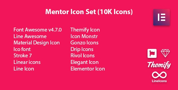 Mentor Icon Set - Icon Pack Addon For Elementor Page Builder - CodeCanyon Item for Sale