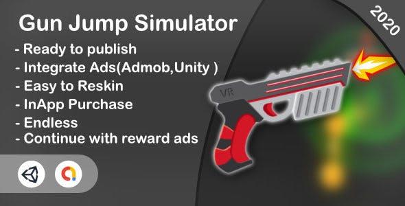 Gun Jump Simulator(Unity Game+iOS+Android)