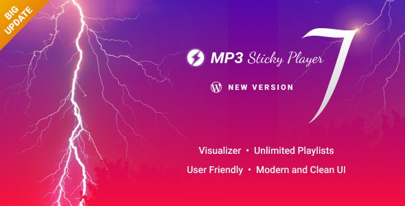 MP3 Sticky Player Wordpress Plugin - CodeCanyon Item for Sale