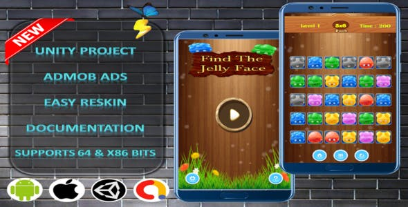 Find The JellyFace Complete Project - Admob