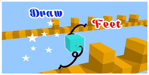 Draw Feets Game - Unity Project With Admob ad for Android and iOS
