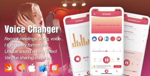 Voice Recorder & Changing Effect with Admob (Limited Edition)