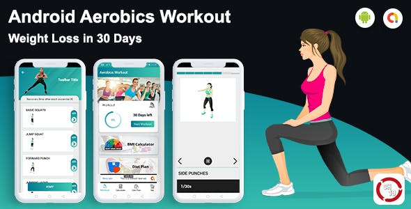 Android Aerobics Workout at Home (30 days Workout Plan)