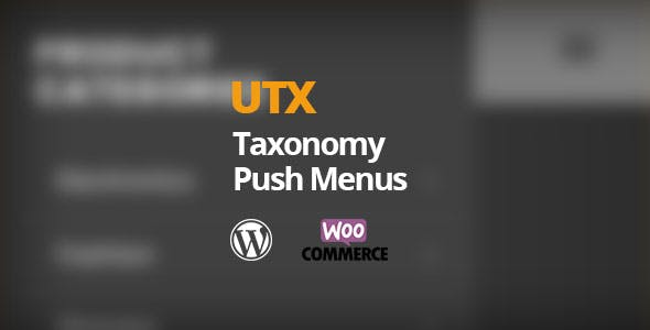 UTX Taxonomy Push Menus for WordPress