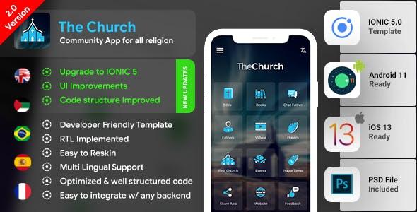 Church App| Community App| Temple App| Android + iOS | IONIC 5 Template | The Church