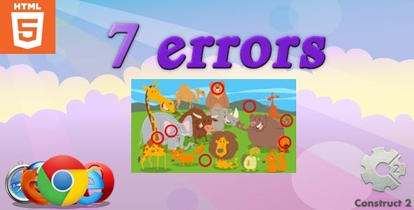 7 Errors - HTML5 - Casual Game