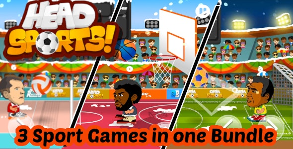 Head Sports Unity (Android and iOS) Project With Admob - 3 Sport Games in 1 Bundle - CodeCanyon Item for Sale