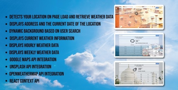 Weather Application - CodeCanyon Item for Sale