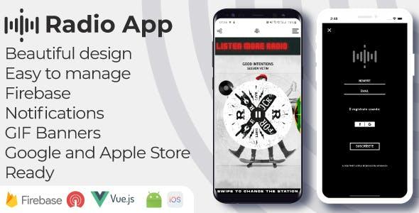 Public radio - Android iOS Admin