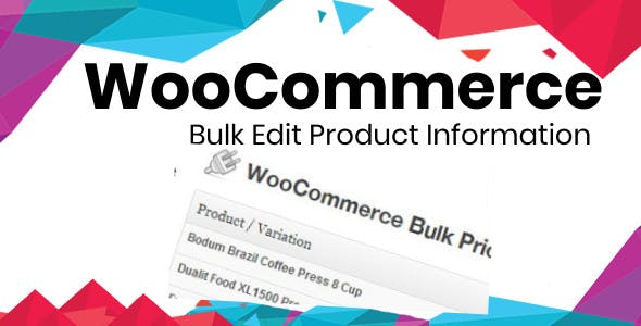 Bulk Edit product Information Plugin