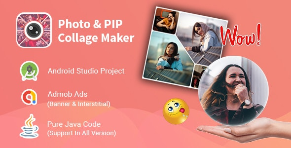 Collage Maker Photo Editor - Android App with Admob - CodeCanyon Item for Sale